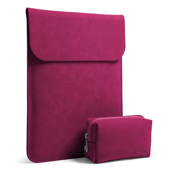 "3d0f312e6a8b New 13.3"" Faux Suede Leather Sleeve for MacBook NWT"